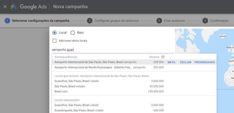 segmentação geográfica google ads